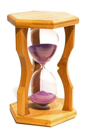 hour glass on white Stock Photo