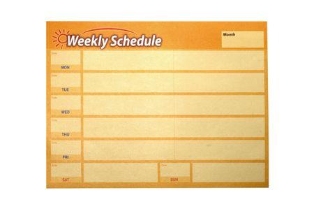 weekly schedule Stock Photo