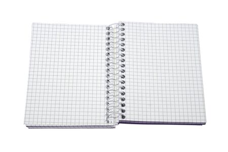 open notebook with empty pages over white background Stock Photo
