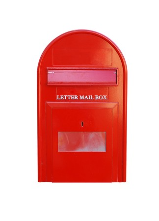Letter mail box isolated