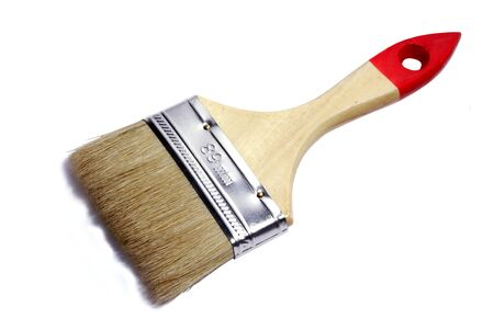 Paint brush with wooden handle Stock Photo