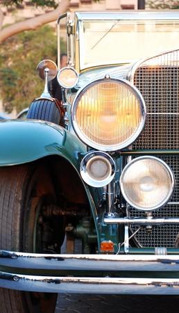 retro auto close-up