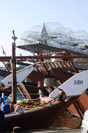 Traditional fishing boat at Dubai Creek, United Arab Emirates Stock Photo