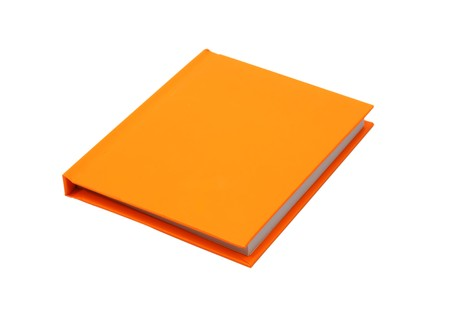 Orange notes diary Stock Photo
