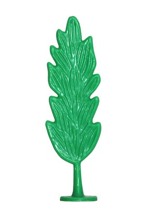 Small toy tree isolated on a white Stock Photo