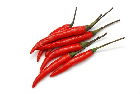hottest: Red chili peppers