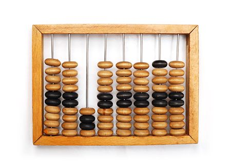 Old Abacus Stock Photo
