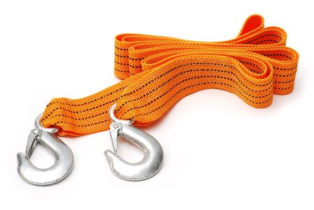 Towing-rope isolated over white background Stock Photo