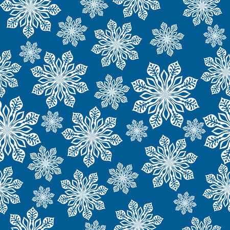 Winter achtergrond. Vector illustratie met veel sneeuwvlok.