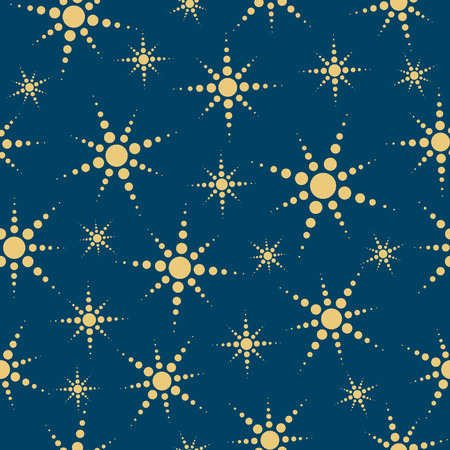Abstract stars seamless background. Coloured Vector illustration. Vector