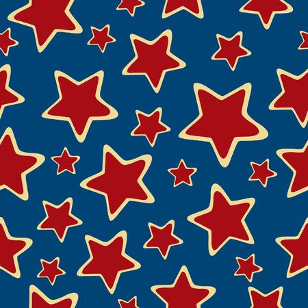 Abstract sterren naadloze achtergrond. Gekleurde vector illustratie.  Stock Illustratie