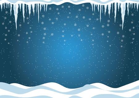 Blue Winter background. Christmas Vector illustration.