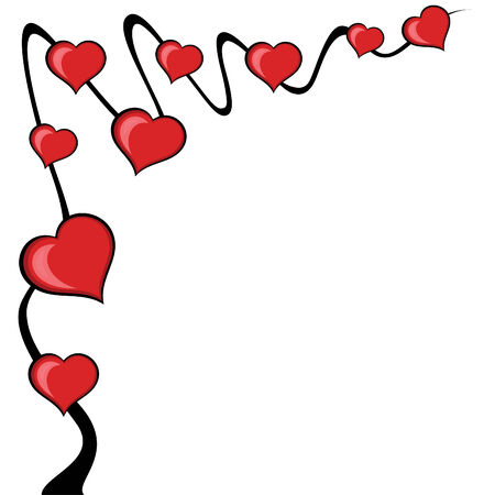 Abstract love tree background.