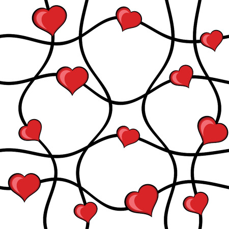 heart break: Abstract hearts vector seamless background Illustration