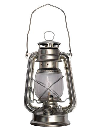 Oil lamp isolated on a white background Stock Photo