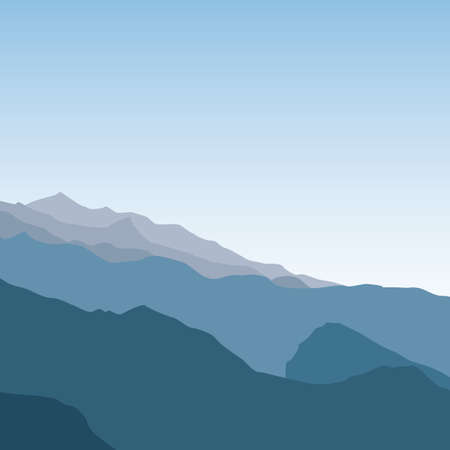 Landscape with mountain. Colorful vector background.
