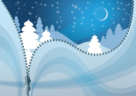 Unzipped Winter background. Colorful Christmas background. Stock Vector - 11030712