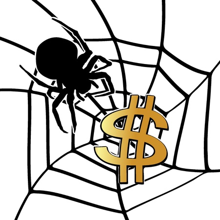 gluttonous: Spider and Dollar Sign
