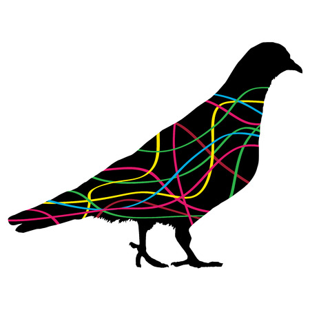 Dove. Colorful vector abstract illustration.