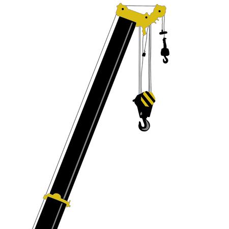 telescopic: Boom truck crane. Vector element. Illustration