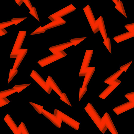 High voltage red sign. Seamless pattern Illustration