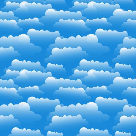 Clouds illustration over blue.