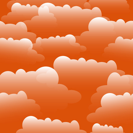 Clouds illustration over sunset.