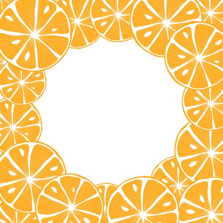 Sliced orange. Colorful Vector Background