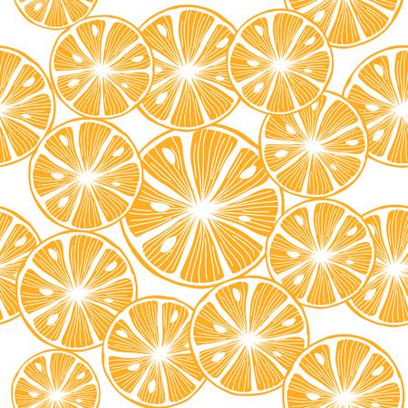 Sliced orange. Colorful Seamless Vector Background