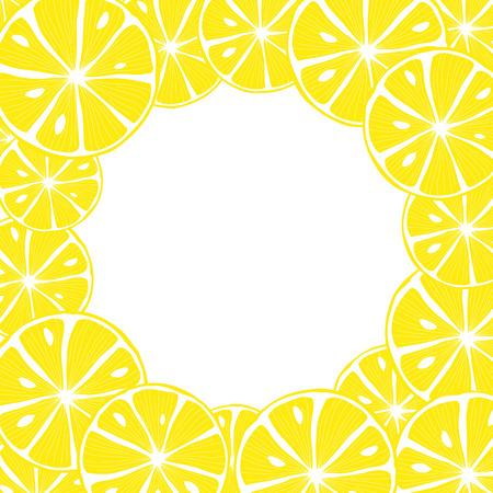 Sliced lemon. Colorful Vector Background Stock Illustratie