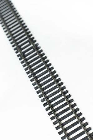 ミニチュア鉄道トラック 写真素材