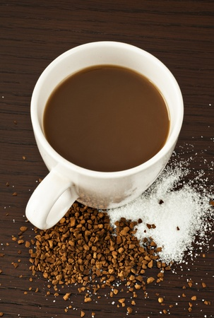 instant coffee: Coffee & Sugar Stock Photo