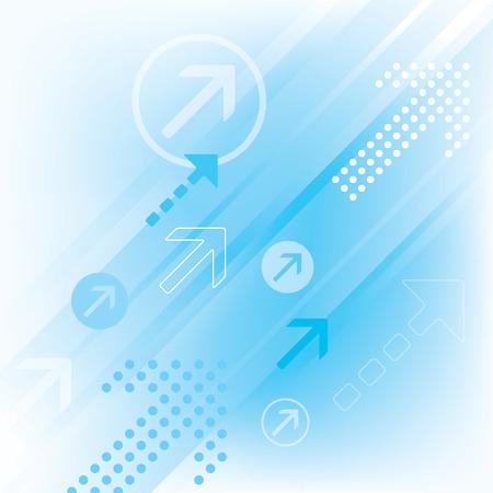 抽象矢印の背景  イラスト・ベクター素材