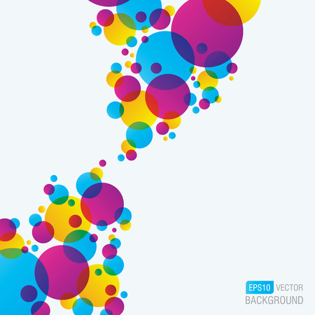 blue circles: Colourful Abstract Background