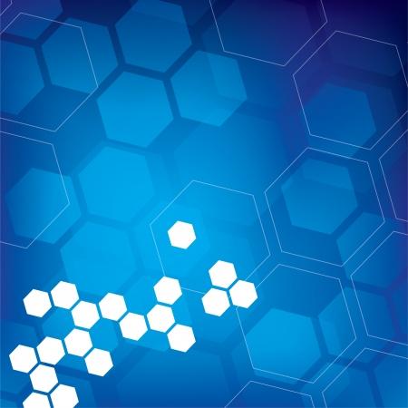 Abstract Hexagon Background Vector