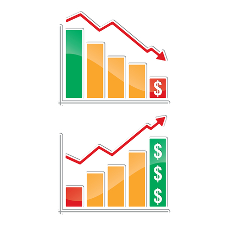 Profit   Loss Charts Vector