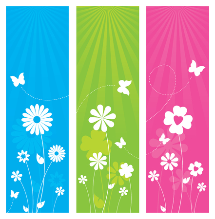 butterfly background: Floral Banner Design