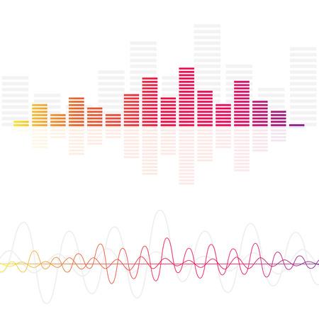музыка: Аудио Уровни звуковых волн Иллюстрация