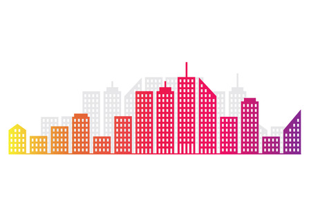 populated: Abstract City Skyline Illustration
