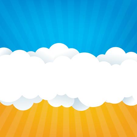 空の雲  イラスト・ベクター素材