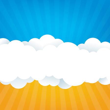 white clouds: Sky With Clouds Illustration