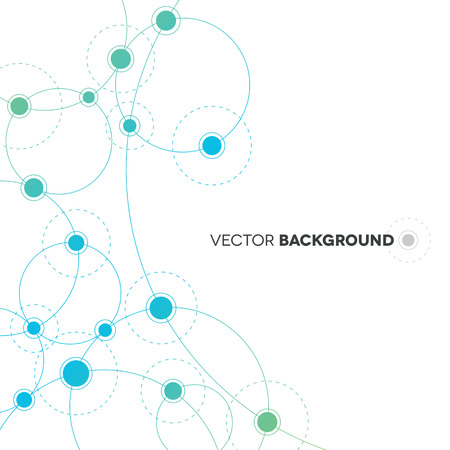Network Background Design Vector
