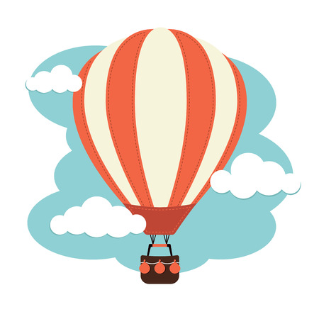 air travel: Hot Air Balloon Illustration