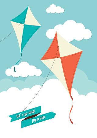 曇り空飛ぶ凧 写真素材 - 37176338