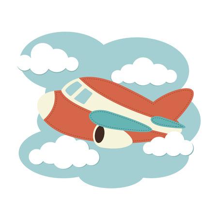 飛行機は雲の中