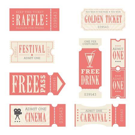 Festival & Carnival Tickets Ilustracja