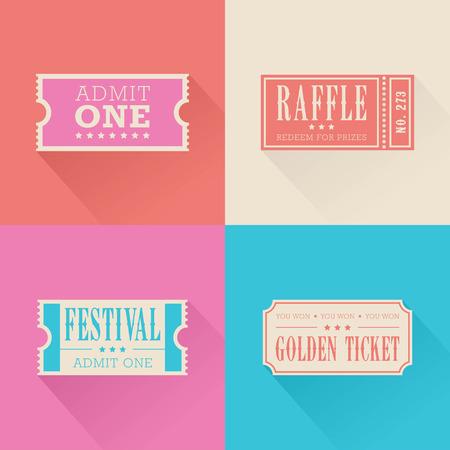 Festival  Tickets Illustration