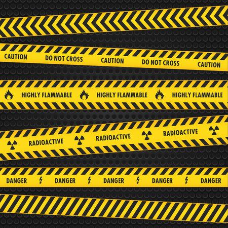 hazard: Yellow Hazard Warning Tapes Illustration
