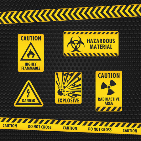 explosives: Hazard Warning Tape and Labels