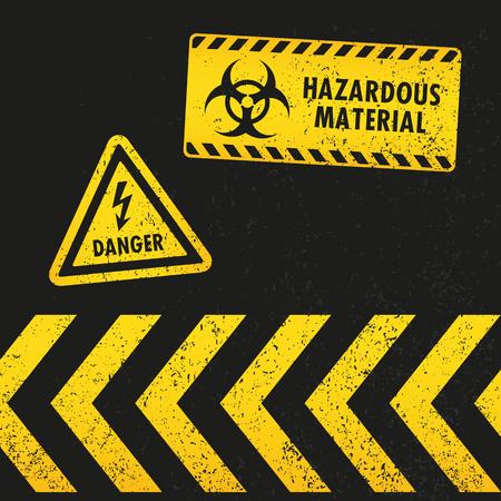 poison arrow: Grunge Hazard Warning